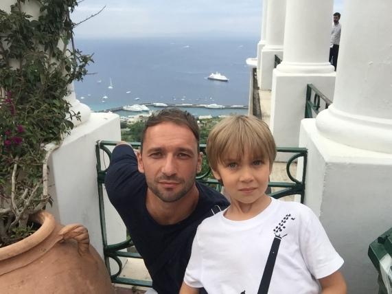 Traian cu Luca, mândria familiei. foto: arhivă personală
